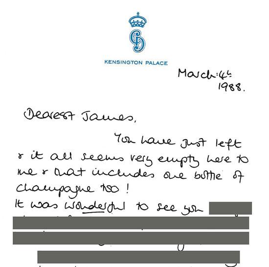 واحدة من الرسائل التي كتبتها الأميرة ديانة إلى هويت