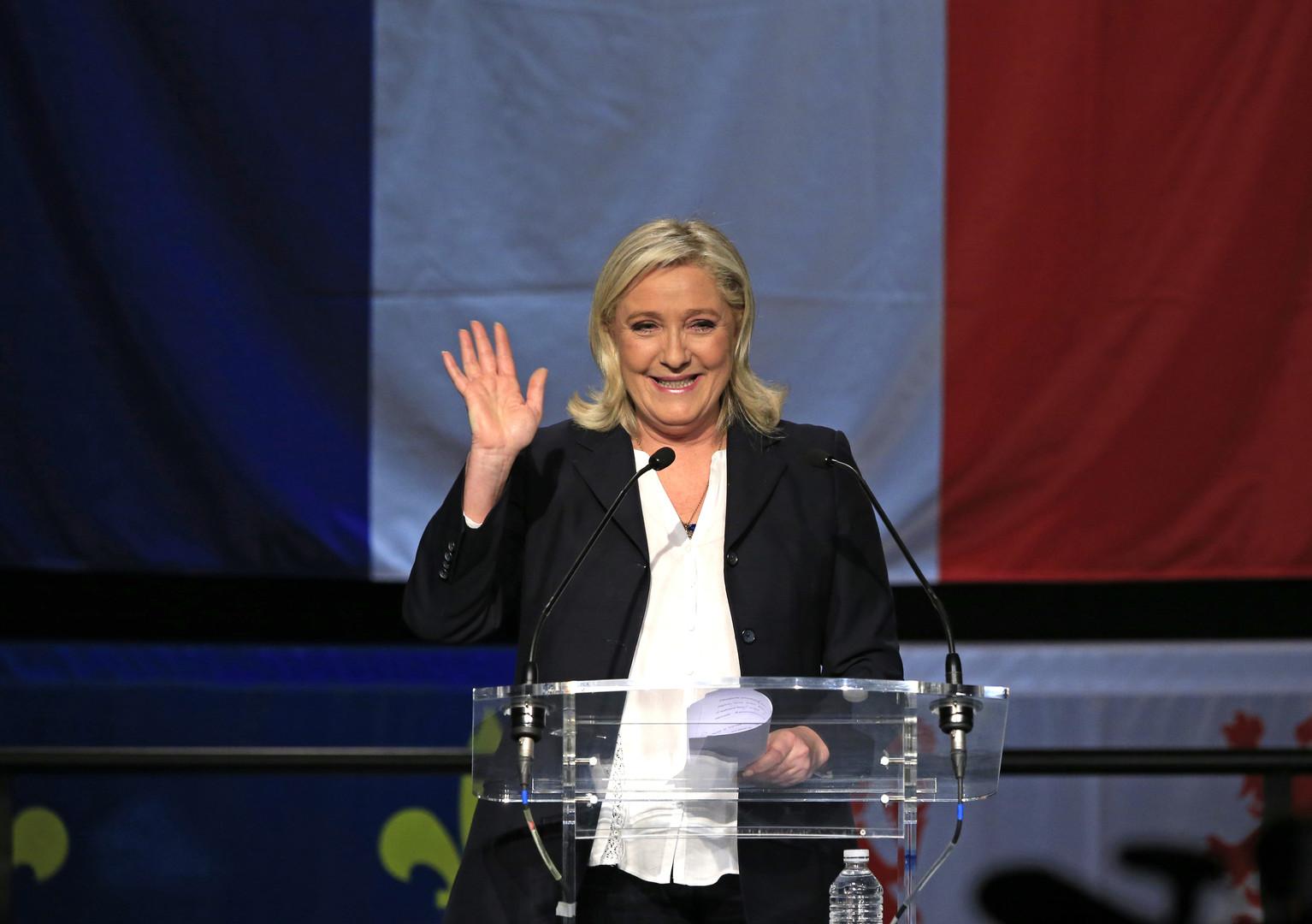 """زعيمة """"الجبهة الوطنية"""" مارين لوبن"""