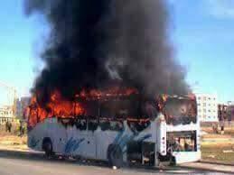 النيران تلتهم حافلة لنقل الركاب قادمة من تافراوت