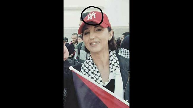 كوفية فلسطينية وقبعة أمريكية للتضامن مع القدس… صورة نبيلة منيب تثير نشطاء الفيسبوك