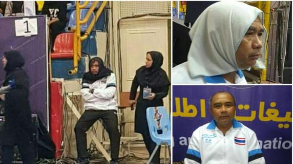 حادث غريب..إيران تلزم مدرب نساء تايلاند بارتداء الحجاب